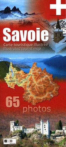 Savoie : Carte touristique illustrée par Martine Selin