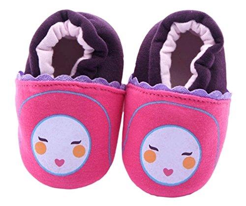 Bigood Liebe Cartoon Design Lauflernschuhe Krabbelschuhe Baby Schuhe Rosa