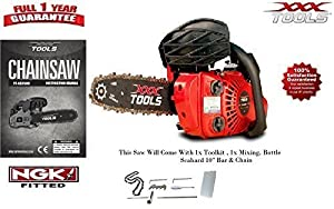XXX TOOLS PETROL CHAINSAW 2017 26CC TOP HANDLE LIGHTWEIGHT SAW with 1 x CHAIN
