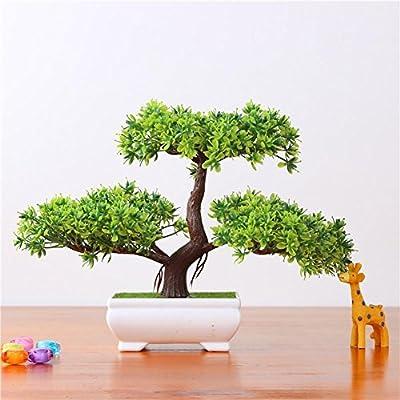 Kunstpflanze Pflanze,Japanischer Feng Shui Pinien ,Feng Shui Lucky Deko,Kunstbaum ,Höhe ca. 20 cm ,GrüN , #4 von künstliche Bonsai Künstliche Bonsai-Baum Pflanzen Dekoration auf Du und dein Garten