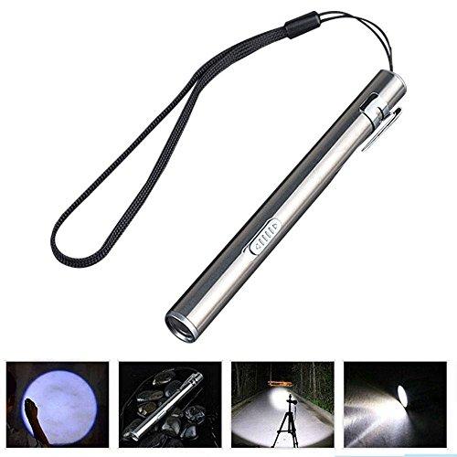 LayOPO Mini Edelstahl USB Pen Lichter für Krankenschwestern Mini Taschenlampe Medical Pocket Taschenlampe Pen Größe Wiederaufladbar Lampe