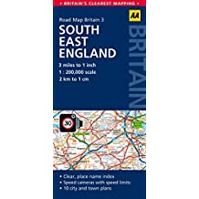 South East England Road Map (Aa Road Map Britain)