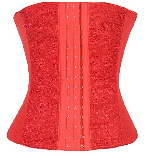 vlunt Damen Frauen fördert das Schwitzen Taille Training Slimming atmungsaktiv Elastische Korsett Weiß