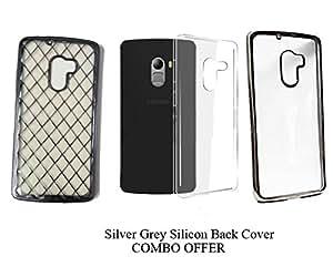 RD Lenovo K4 Note 3 in 1 Combo Silver Silicon Back Cover, silicon transparent cover