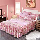 ZZHU Simmons bed cover double lace bed cover cover single piece, pillowcase pair