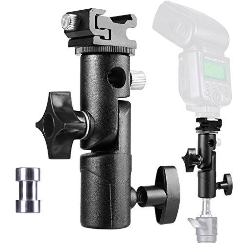 Aluminium Blitzschuh Kamera Schirmhalterung Kamera Regenschirm Halterung Schuh Halterung für Canon Nikon Pentax Olympus Nissin Metz E Type