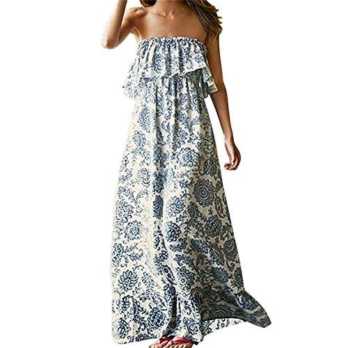 Vestido de Verano Largo Maxi Falda Mujer Casual Elegante Boda Playa Fiesta...