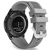 MoKo Gear S3 Frontier Smartwatch Bracelet en Silicone souple pour Samsung Galaxy Gear S3 Frontier   S3 Classic   Moto 360 2nd Gen 46mm Smart Watch, Pas compatible avec S2,S2 Classic,Fit2, Gris
