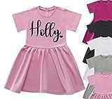 Personalised Name Dress Summer Dress Girls Glitter Tops Heart Fashion Girls Clothing Girls