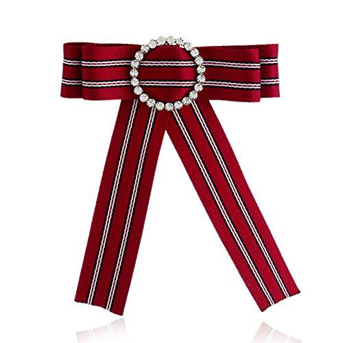 che Anstecknadeln Kristall Stil Broschen Schals/Kragen Pin Mode Geschenk Kleidung Dekoration Damen Mädchen für Hochzeiten, Bankette, Party Schmuck Zubehör (Rot) ()