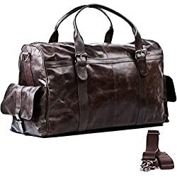 Bolso de viaje ASHTON - piel genuina marrón