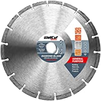 Wellcut Segmented Diamond Cutting Disc Blade, Ultra Thin & High Precision, Fast & Smooth Cutting for Concrete, Stone, Brick, Lintels, Granite, Natural Stone Diamond Blade (230 X 22.23 Mm)
