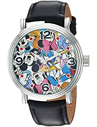 Disney Men's 'Mickey Mouse' Quartz Metal Casual Watch, Color:Black (Model: WDS000343)