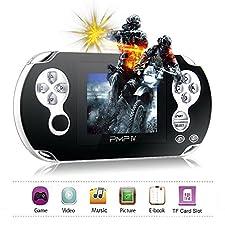 XinXu Spielkonsole Handheld Game Consoles 3.0 Spiel Retro Console 32 Bit mit 566 Spiele in 1 Geschenk für Kinder (Schwarz)