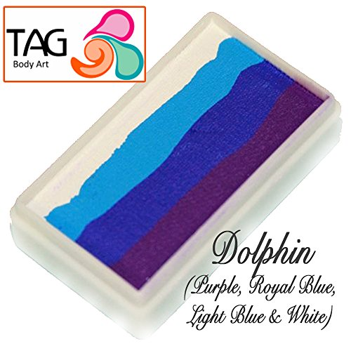 TAG Face Paint 1-Stroke Split Cake - Dolphin (30g) by TAG Body Art