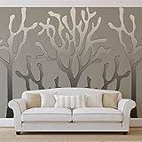 Baum Abstrakt Fototapete Wandbild Bild Tapete (878FW)