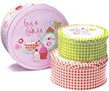 Cooksmart Cake Tins, Set of 3, Cupcakes