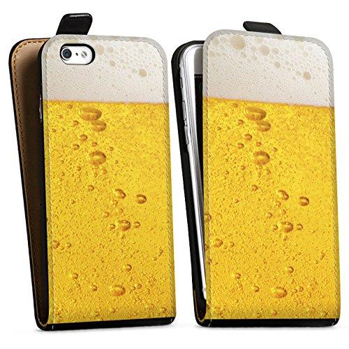 Apple iPhone 5c Silikon Hülle Case Schutzhülle Bier Design Oktoberfest Downflip Tasche schwarz