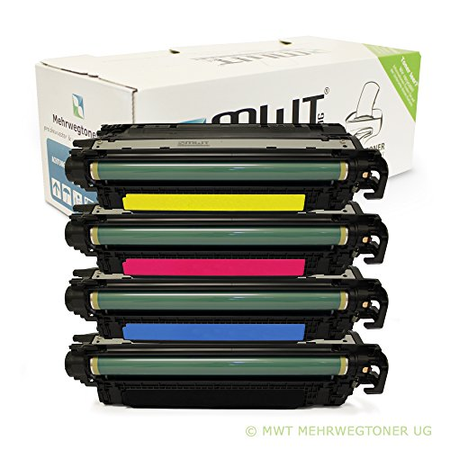 4x MWT Remanufactured Toner für HP Color LaserJet Enterprise CP 5525 XH DN N ersetzt CE270A-73A