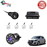 #6: myTVS TPK-57 White Reverse Car Video Parking Sensor Kit with 8 LED Night Vision Camera for Maruti Swift
