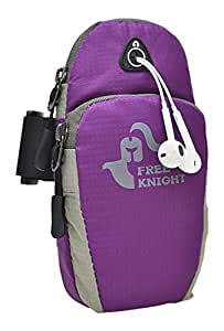 """Free Knight Canvas Sports Armband with Key Holder for iPhone 6, 6S Plus, 5.5"""", Galaxy S6/S5, Note 4 Bundle with Screen Protector, Multifunctional Outdoor Sports Casual Cellphone Arm Package"""
