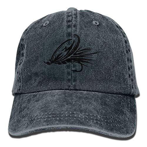 Hoswee Unisex Kappe/Baseballkappe, Fly Fishing Lure Denim Baseball Caps Hat Adjustable Cotton Sport Strap Cap for Men Women - 1 Nike Yeezy