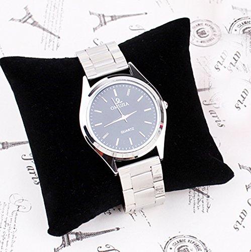 5 Stück Schwarzen Samt Armband Uhr Schmuck Kissen Anzeige