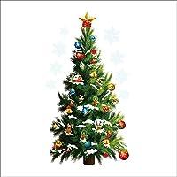 Pegatinas removibles de la pared - TOOGOO(R) Navidad arbol Estrellas Extraible Engomadas de