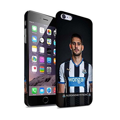 Officiel Newcastle United FC Coque / Clipser Matte Etui pour Apple iPhone 6S+/Plus / Janmaat Design / NUFC Joueur Football 15/16 Collection Mitrovic