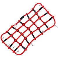 INJORA RC Red de Equipaje Elastic Luggage Net RC Accesorios de Parte para 1/10 RC Crawler SCX10 90046 Tamiya CC01 D90 Traxxas TRX-4 TRX4 (Rojo)