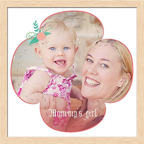 ArtzFolio AZ Mommy's Girl Photo Collage Natural Brown Wood Frame Personalised Gift 20 x 20inch