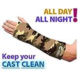 Cubre-escayolas brazo corto - Verde camuflaje (Adulto G/XL)