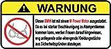 BMW M Power Motor German Lustig Warnung Aufkleber Decal Sticker