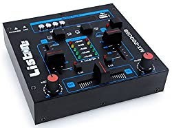 WJG Industrievertretung DJ Mischpult Party Musik Mixer USB/MP3 Crossfading Talkover Kanalfading MX-200USB
