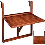 Wooden Hanging Balcony Table from Acacia Hardwood
