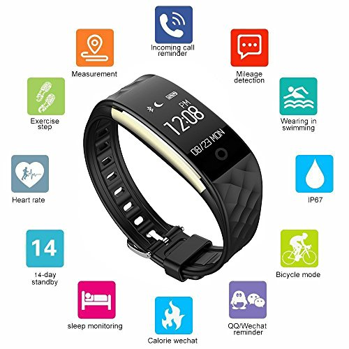 Fitness Tracker BigFox Smart Watch Heart Rate Monitor Smart Bracelet Activity Tracker Watch Pedometer Wristband Sleep Monitor Touch Screen Waterproof Smartwatch For Android And IOS Smartphones Such As