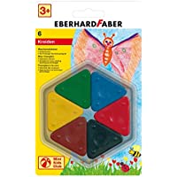 Eberhard Faber Magic Triang Wax Crayons Blister (6 Colours)