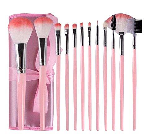 12 PCS doux pinceaux de maquillage pour les femmes / filles