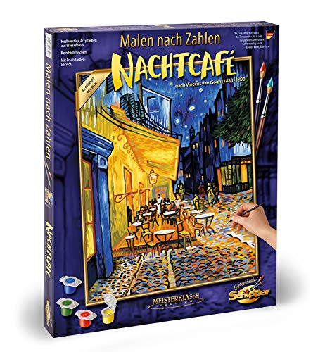 Schipper 609130359 609130359-Malen nach Zahlen-Nachtcafe von Vincent Van Gogh, 40x50 cm