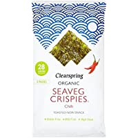 Clearspring Chile Orgánicos Seaveg Crispies Multipack 3 X 5 G (Paquete de 6)