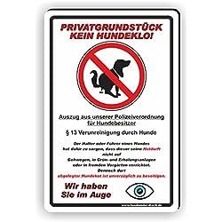 Privatgrundstück - Kein Hundeklo Schild / Kein Hundekot / T-001 (20x30cm Schild)