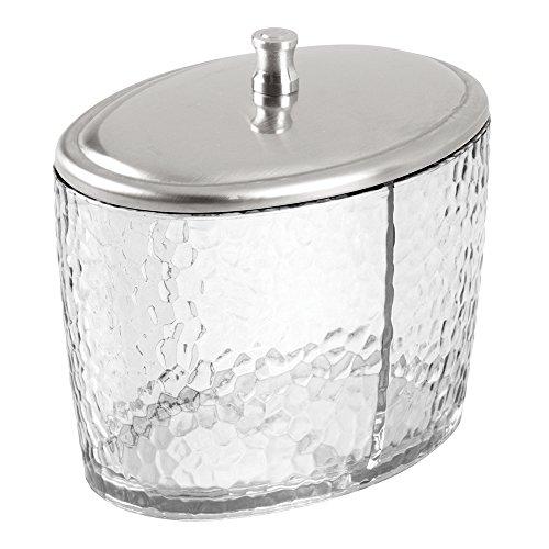 InterDesign 34050EU Rain Ovaler Behälter für Wattebäusche, Wattestäbchen, Wattepads, - Adler-raum-dekor