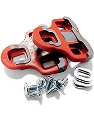 VeloChampion Cleats Compatible con el modelo Look Keo Grip Pedal 6 Degree Float ROJO