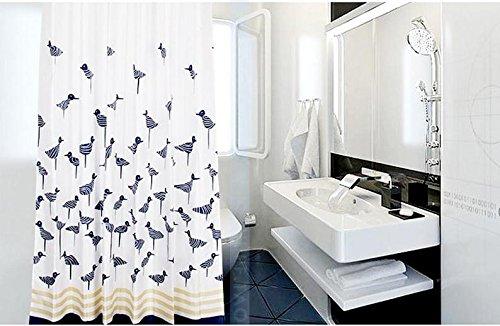 beddingleer-200cm-x-200cm-thicken-mildew-free-water-repellent-fabric-shower-curtain-200-x-200-cmbird