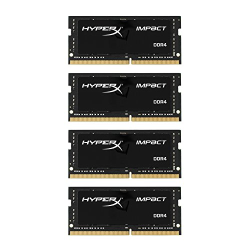 HyperX Impact HX424S15IBK4/64 2400MHz DDR4 CL15 SODIMM 64 GB Kit (4 x 16), Nero