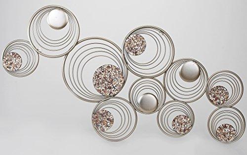 Decorazioni Da Parete In Metallo.Stravagante Decorazione Da Parete In Metallo Con Pietre 96 X 50 Cm