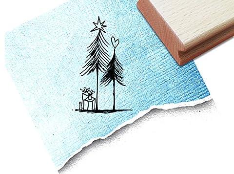 STEMPEL - x17b 6 - Weihnachtsstempel - Geschenke unterm Tannenbaum - Motivstempel Bildstempel von zAcheR-fineT