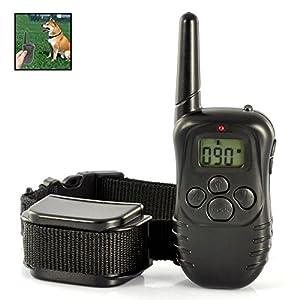 Collier dressage électronique chien jusqu'à 300 mètres réglable noir