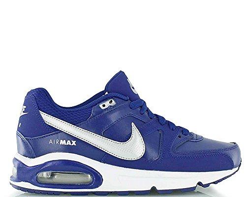 Nike Air Max Command Ltr Gs, Chaussures de Running Entrainement Garçon Multicolore - Azul / Plateado / Blanco (Deep Royal Blue / Mtllc Slvr-Wht)