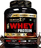 MuscleXP 100% Whey Protein - 2Kg (4.4 lbs), Double Rich Chocolate - Setting New Whey Gold Benchmarks